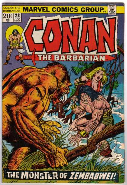 Conan the Barbarian 28 - Zembabwei - Marvel - Blonde - July - 20 Cents
