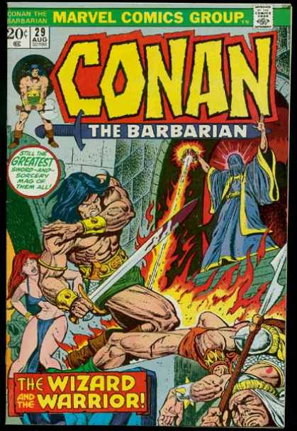 Conan the Barbarian 29 - Women - Sword - Wizard - Fire - Spear
