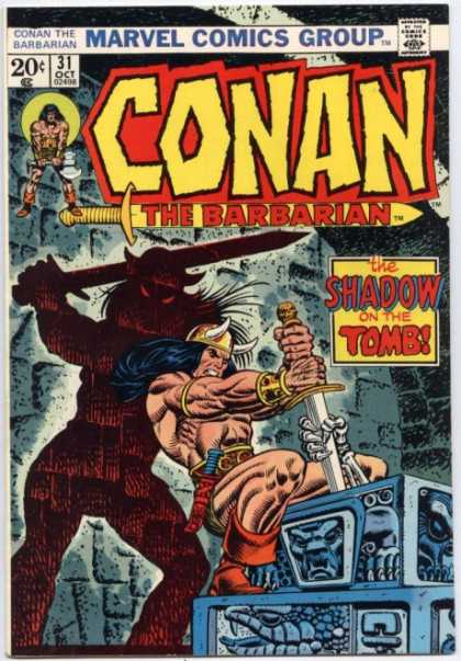 Conan the Barbarian 31 - Marvel Comics - The Shadow On The Tomb - Sward - Stone - Skeleton Hand