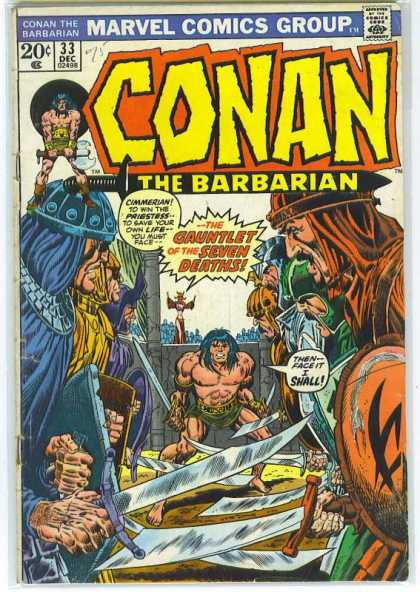 Conan the Barbarian 33 - Swords - Gauntlet - Priestess - Seven Deaths - Sword
