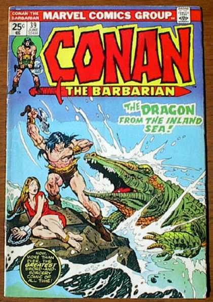 Conan the Barbarian 39 - Dragon - Crocodile