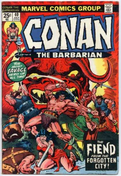 Conan the Barbarian 40 - Marvel - Savage - Hero - All Time - Caveman