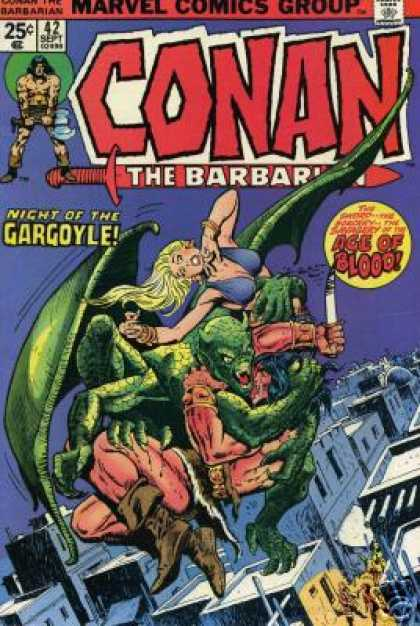 Conan the Barbarian 42 - Conan - Night Of The Gargoyle - Marvel - Age Of Blood - Fight In The Sky
