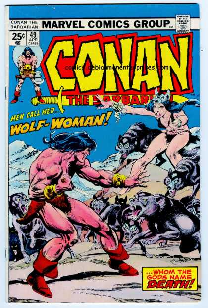 Conan the Barbarian 49 - Wolf Woman - Wolves - Muscles - Red Boots - Loin Cloth