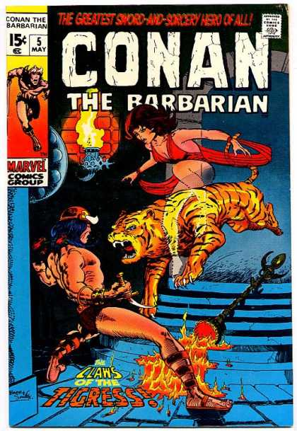Conan the Barbarian 5 - Tiger - Tigress - Barry Windsor-Smith