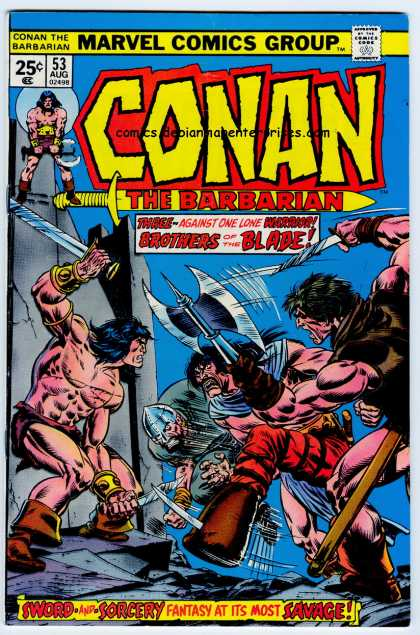 Conan the Barbarian 53 - Sorcery - Fantasy - Battle Axe - Combat - Three Against One