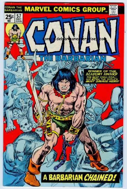 Conan the Barbarian 57 - Sword - Marvel - Caveman - Academy Award - Lion