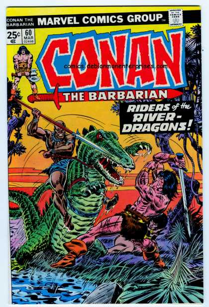 Conan the Barbarian 60 - Riders Of The River Dragon - Marvel - Conan The Bahbarian - Sword - Attacked