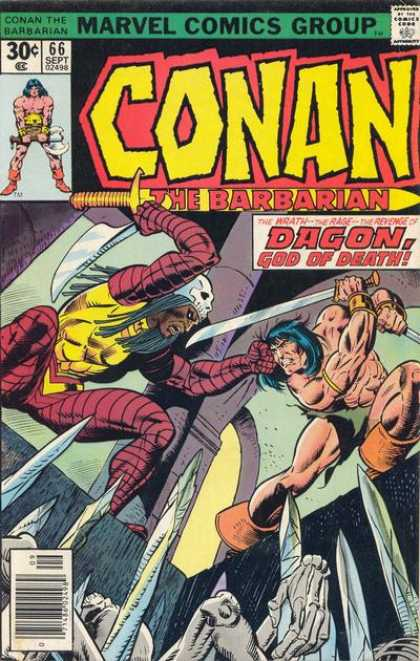 Conan the Barbarian 66 - Swords - No 66 - Dagon God Of Death - Skeletons - Marvel