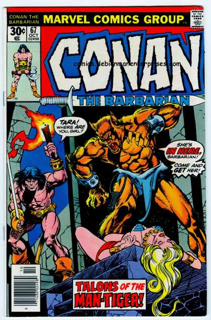 Conan the Barbarian 67 - Sword - Torch - Werewolf - Marvel - October