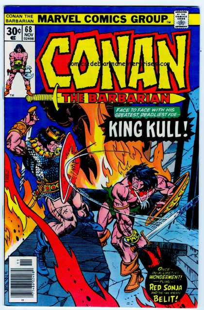 Conan the Barbarian 68 - King Kull - Red Sonja - Swords - Conflagration - Marvel Comics
