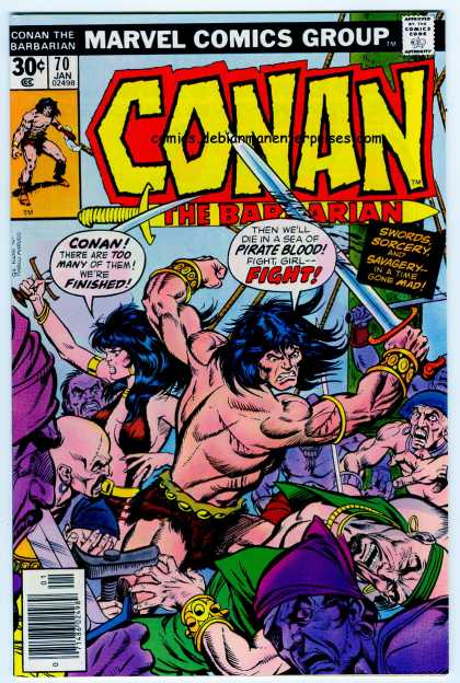 Conan the Barbarian 70 - Sorcery - Savagery - Surrounded - Fighting - Swords