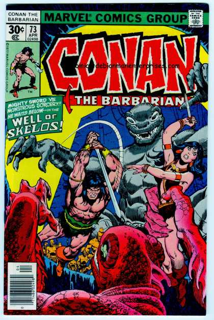 Conan the Barbarian #73 cover