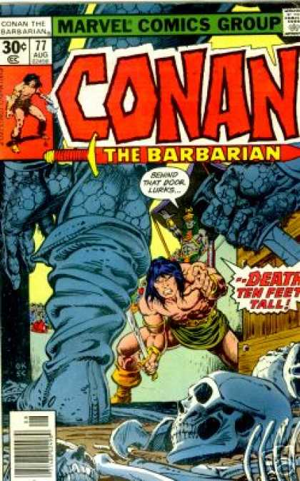 Conan the Barbarian 77 - Sword - Skull - Marvel - August - Speech Bubble - Ernie Chan