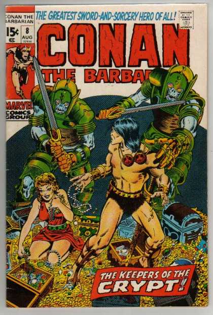 Conan the Barbarian 8 - Keeper Of The Crypt - Treasure Chests - Gold Coins - Necklaces - Swords