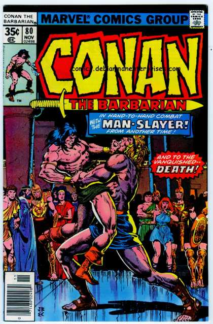 Conan the Barbarian 80 - Man-slayer - Hand-to-hand Combat - From Another Time - Marvel Comics - Fight - Ernie Chan, John Buscema