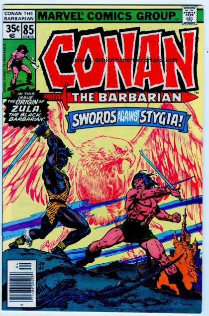 Conan the Barbarian 85 - Sword - Eagle - Sword And Sorcery - Fantasy - Castle - Ernie Chan, John Buscema