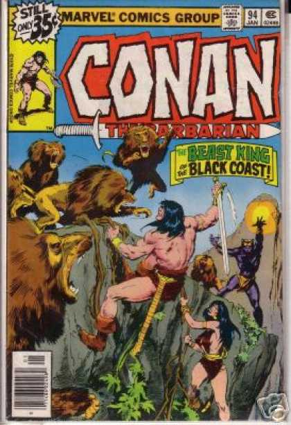 Conan the Barbarian 94 - Beast King - Sword - Lions - Black Coast - Fighting