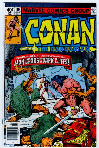 Conan the Barbarian 99 - Conan And Belit - Man-crabs Of The Dark Cliffs - Treasure - Alone Against The - Dungeon - Ernie Chan, John Buscema