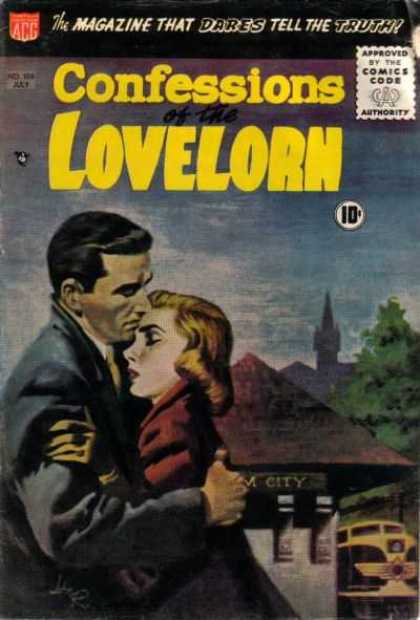 Confessions of the Lovelorn 106 - Approved By The Comics Code Authority - Acg - July - Tree - Tie