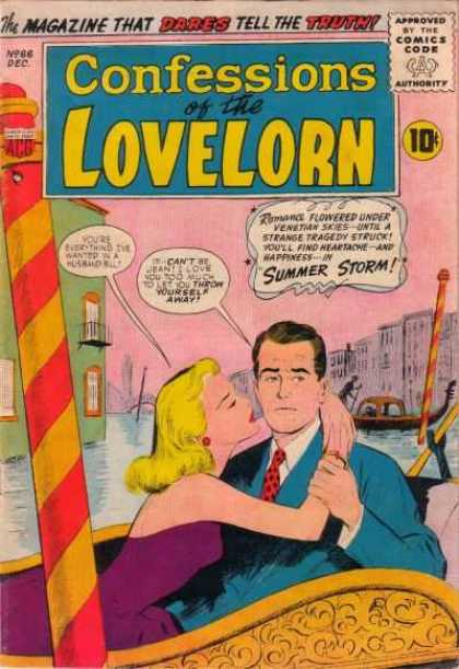 Confessions of the Lovelorn 66 - Blue Suit Jacket - Lovelorn - Gondola - Love Confessions - Canal