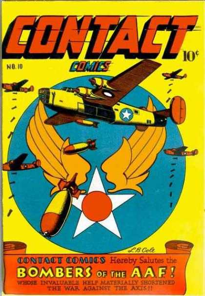 Contact Comics 10 - Bombers - Axis - Airplane - Bombs - Aaf