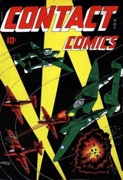Contact Comics 3 - Planes - Green - Red - Combat - Shoot