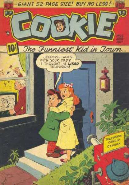 Cookie 25 - Candid Camera - Couple - Television - Blue Door - Enraged Man
