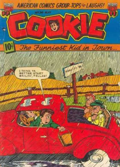 Cookie 36 - Line - Sign - Letters - Rain - Car