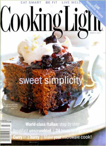 Cooking Light - Gingerbread Cake with Blueberry Sauce