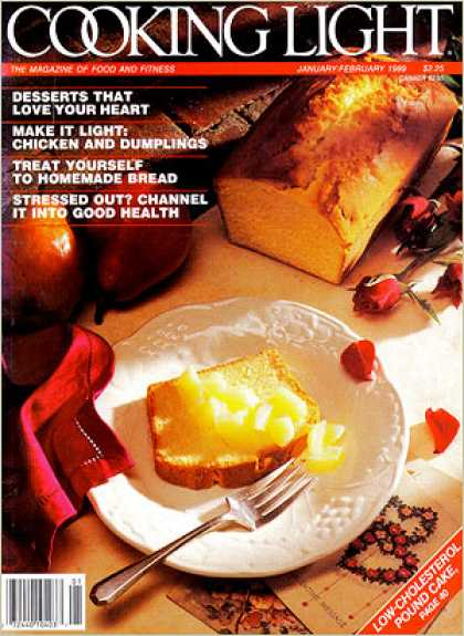 Cooking Light - Pound Cake served with Poached Pear Chunks