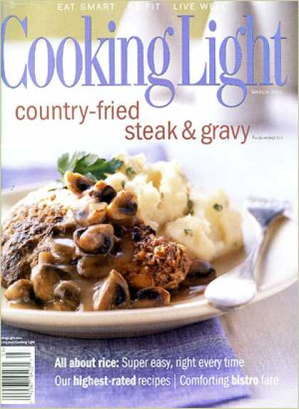 Cooking Light - Country-Fried Steak with Mushroom Gravy