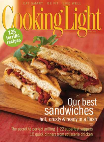 Cooking Light - Grilled Chicken and Roasted Red Pepper Sandwiches - with Fontina Cheese