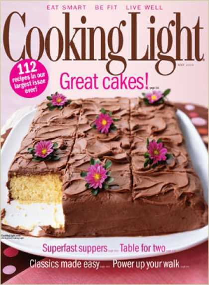 Cooking Light - Yellow Sheet Cake with Chocolate Frosting