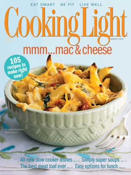 Cooking Light - Three-Cheese Chicken Penne Florentine