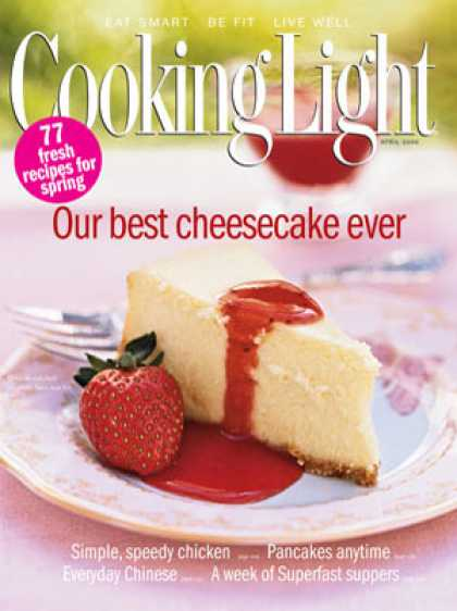 Cooking Light - Cheesecake with Fresh Strawberry Sauce