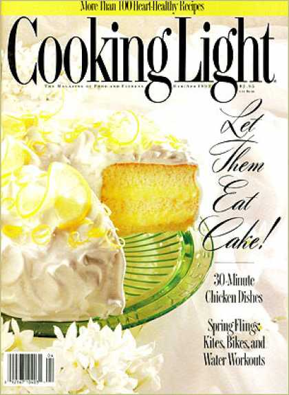 Cooking Light - Lemon-Filled Sponge Cake with Fluffy Frosting