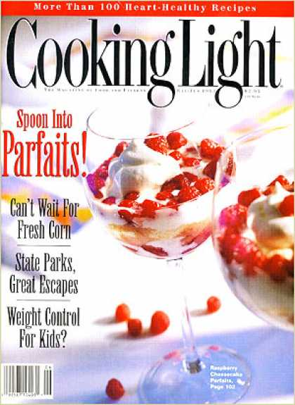 Cooking Light - Raspberry Cheesecake Parfaits