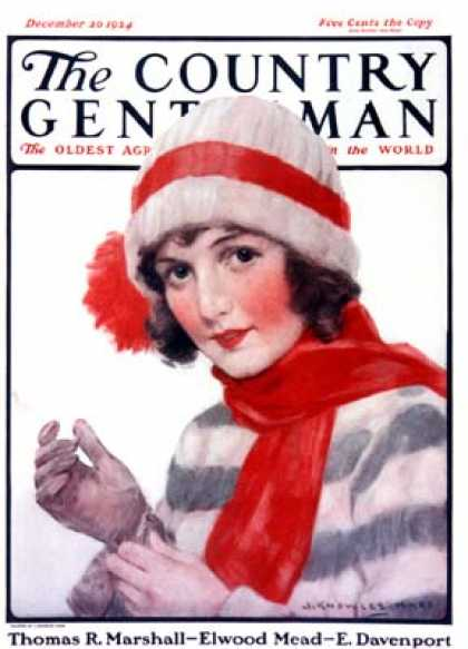 Country Gentleman - 1924-12-20: Woman in Winter Wear (J. Knowles Hare)
