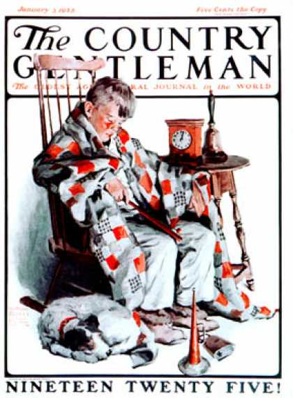 Country Gentleman - 1925-01-03: Waiting for the New Year (WM. Meade Prince)