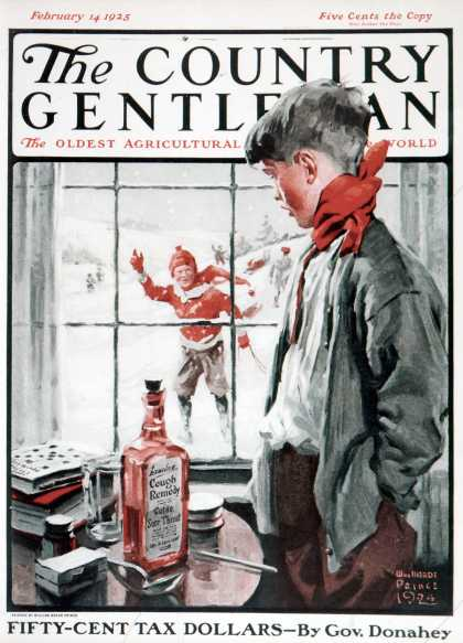 Country Gentleman - 1925-02-14: Cough Keeps Him In (WM. Meade Prince)