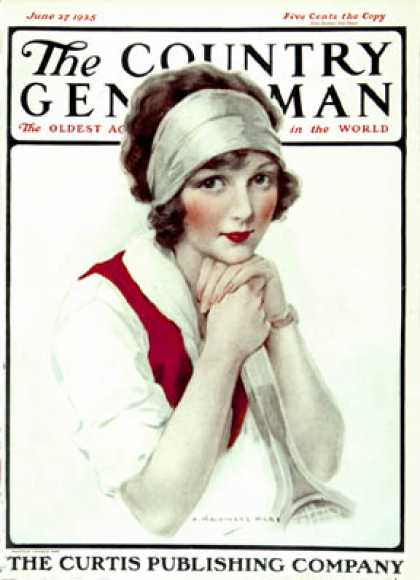 Country Gentleman - 1925-06-27: Woman Tennis Player (J. Knowles Hare)