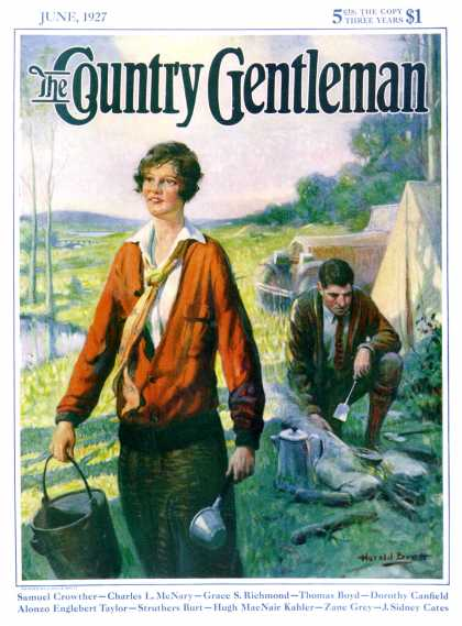 Country Gentleman - 1927-06-01: Camping Couple (Harold Brett)