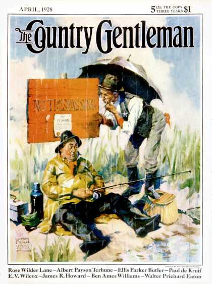 "Country Gentleman - 1928-04-01: ""No Trespassing"" (WM. Meade Prince)"