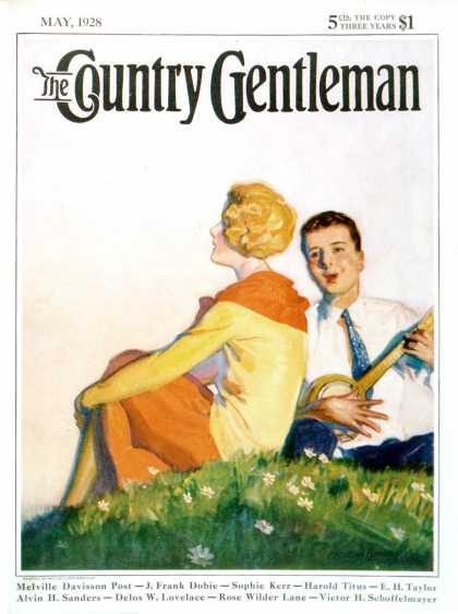 Country Gentleman - 1928-05-01: Hillside Serenade (McClelland Barclay)
