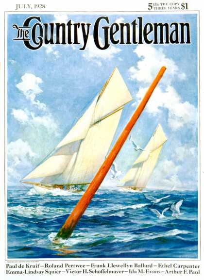 Country Gentleman - 1928-07-01: Sailboat Race (Anton Otto Fischer)