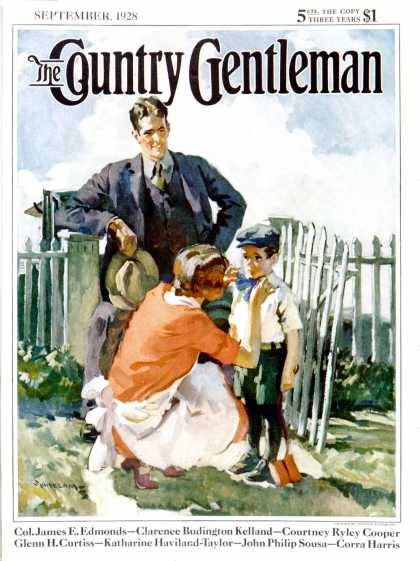 Country Gentleman - 1928-09-01: First Day of School (Haddon Sundblom)