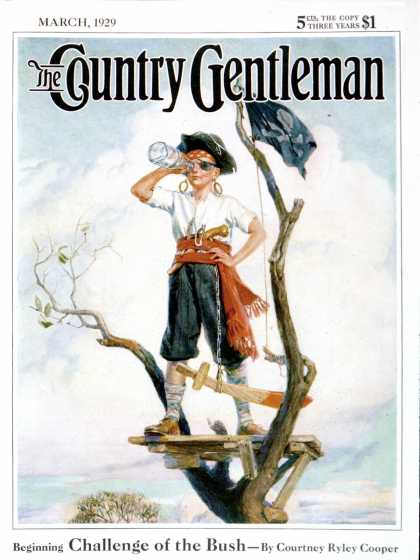 Country Gentleman - 1929-03-01: Playing Pirate (WM. Meade Prince)