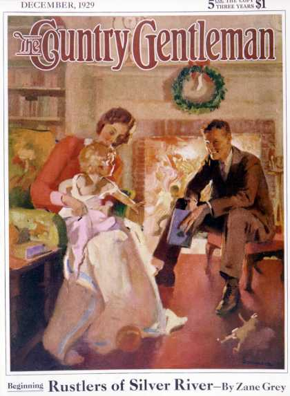 Country Gentleman - 1929-12-01: Baby's First Christmas (Haddon Sundblom)