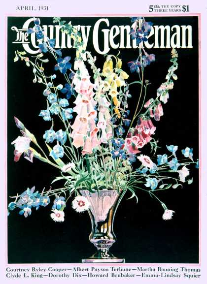 Country Gentleman - 1931-04-01: Flowers in Silver Vase (Nelson Grofe)